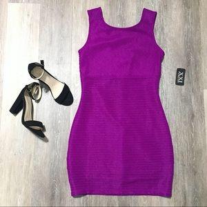 Forever 21 Purple Bodycon Mini Dress